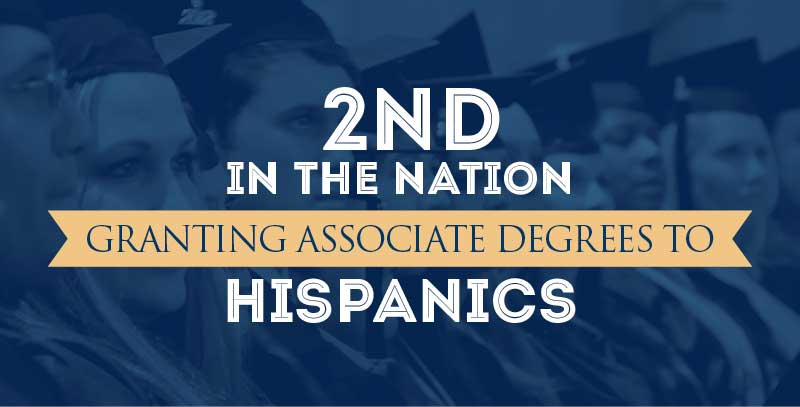 2nd in nation in granting associate degrees to hispanics
