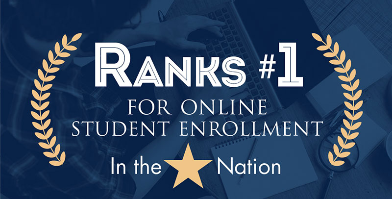Ranks #1 for Online Student Enrollment in The Nation